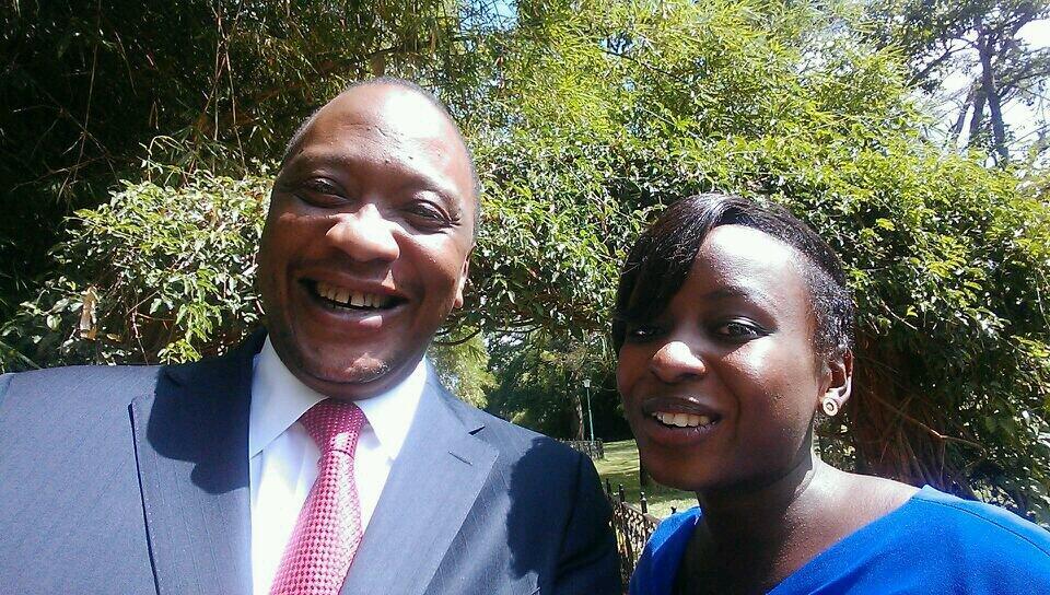 President Uhuru Kenyatta and Jacy Maribe President Uhuru Kenyatta and Jacy Maribe