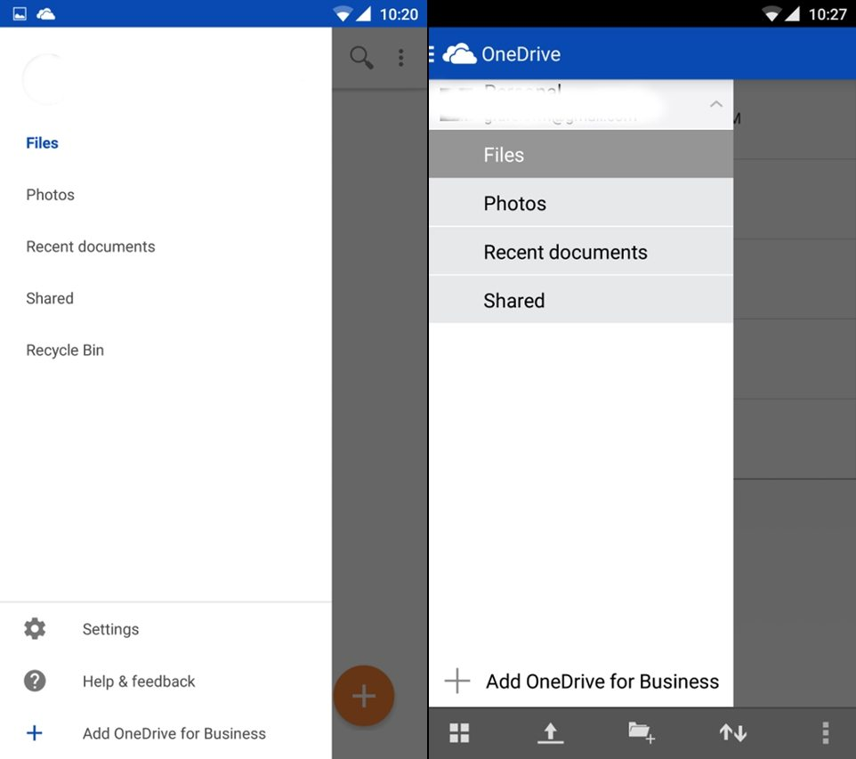 OneDrive beta vs official