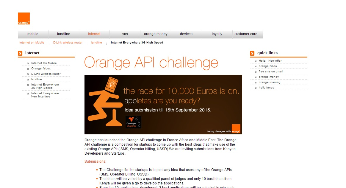 Three Things You Need To Know About the Orange Developer Challenge