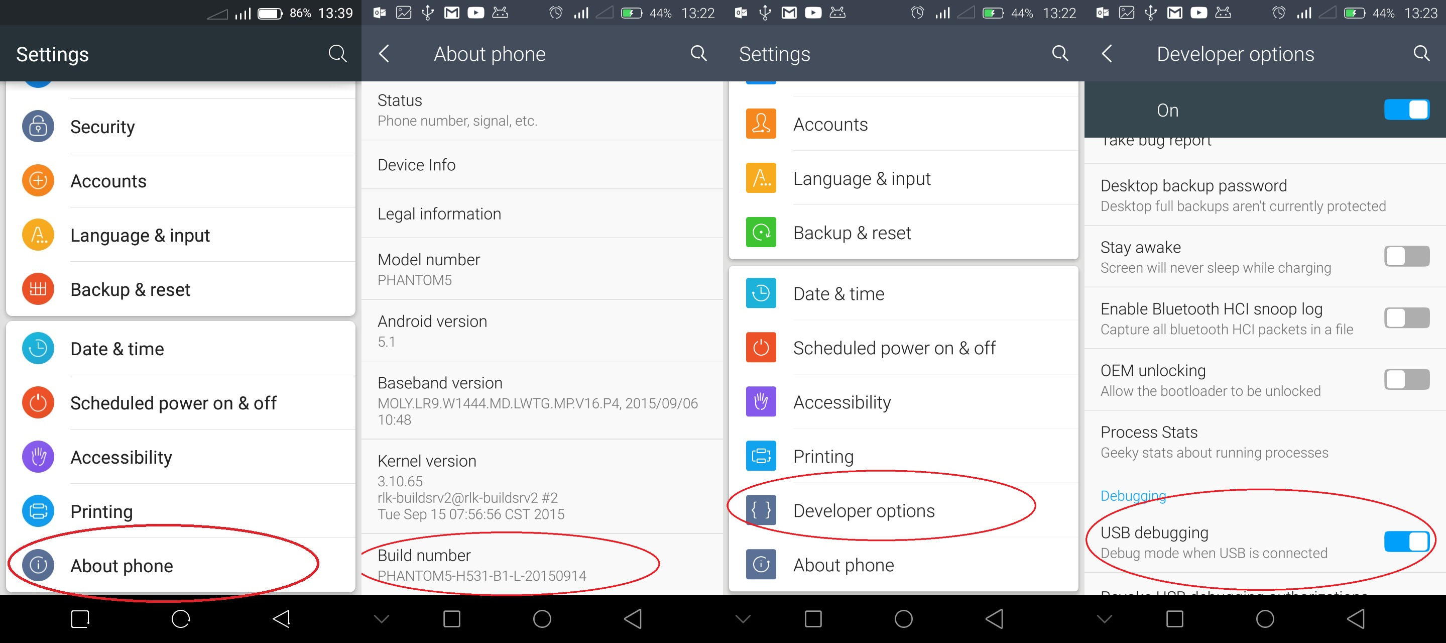 How to Enable Developer Options and USB Debugging On Your Android