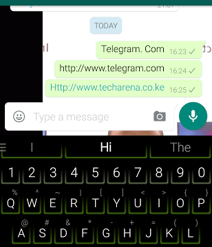 WhatsApp blocking Telegram Links