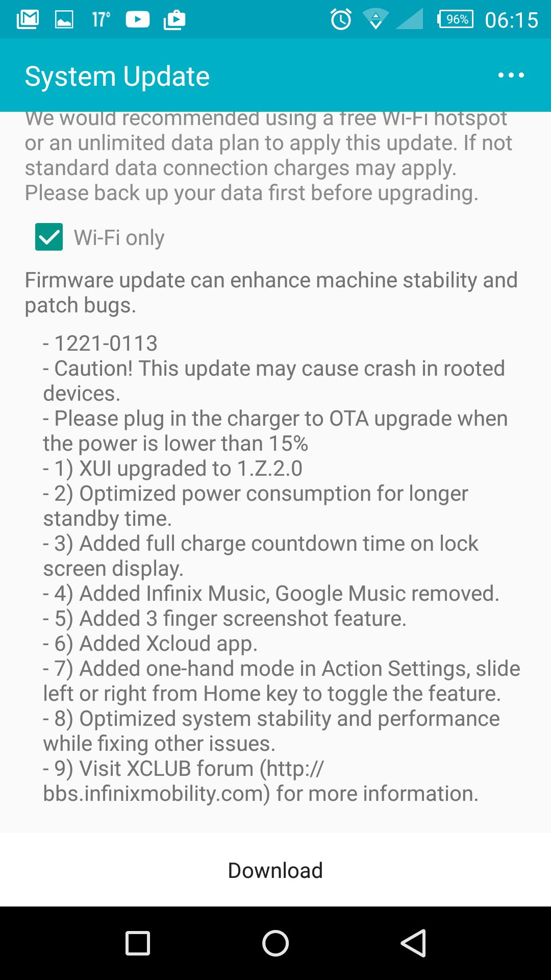 Infinix zero 3 update