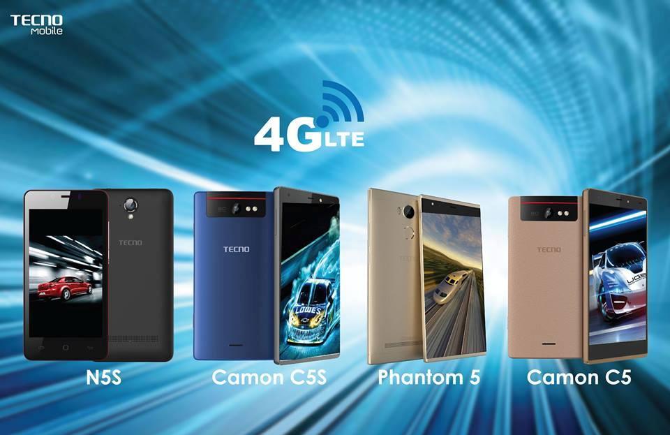Tecno Smartphones In Kenya that support 4G LTE