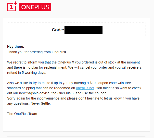 OnePlus X discontinued