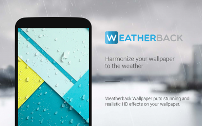 APP OF THE WEEK: Accuweather Background FX – Weather Effects On Your Wallpaper
