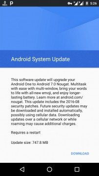 Android Nougat for Android One