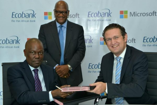 Left - Ecobank Group CEO Ade Ayeyemi with Amr Kamel General Manager Mi... (004) (003)
