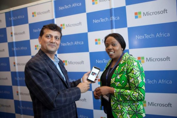 The app's developer, Rajiv Kumar, General Manager of Applications & Services Group and Communications Manager, Microsoft WECA during the announcement.