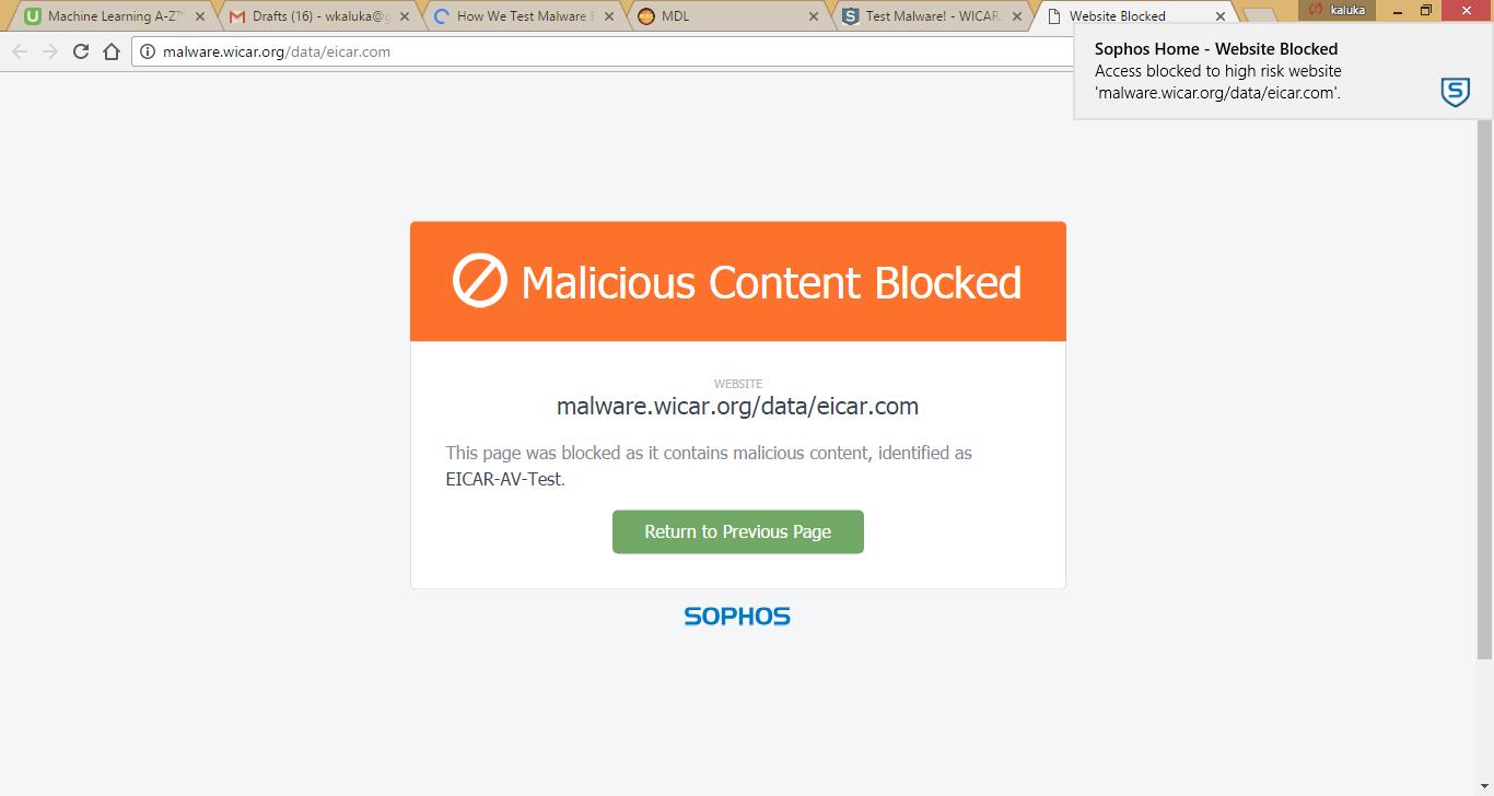 Sophos Home web