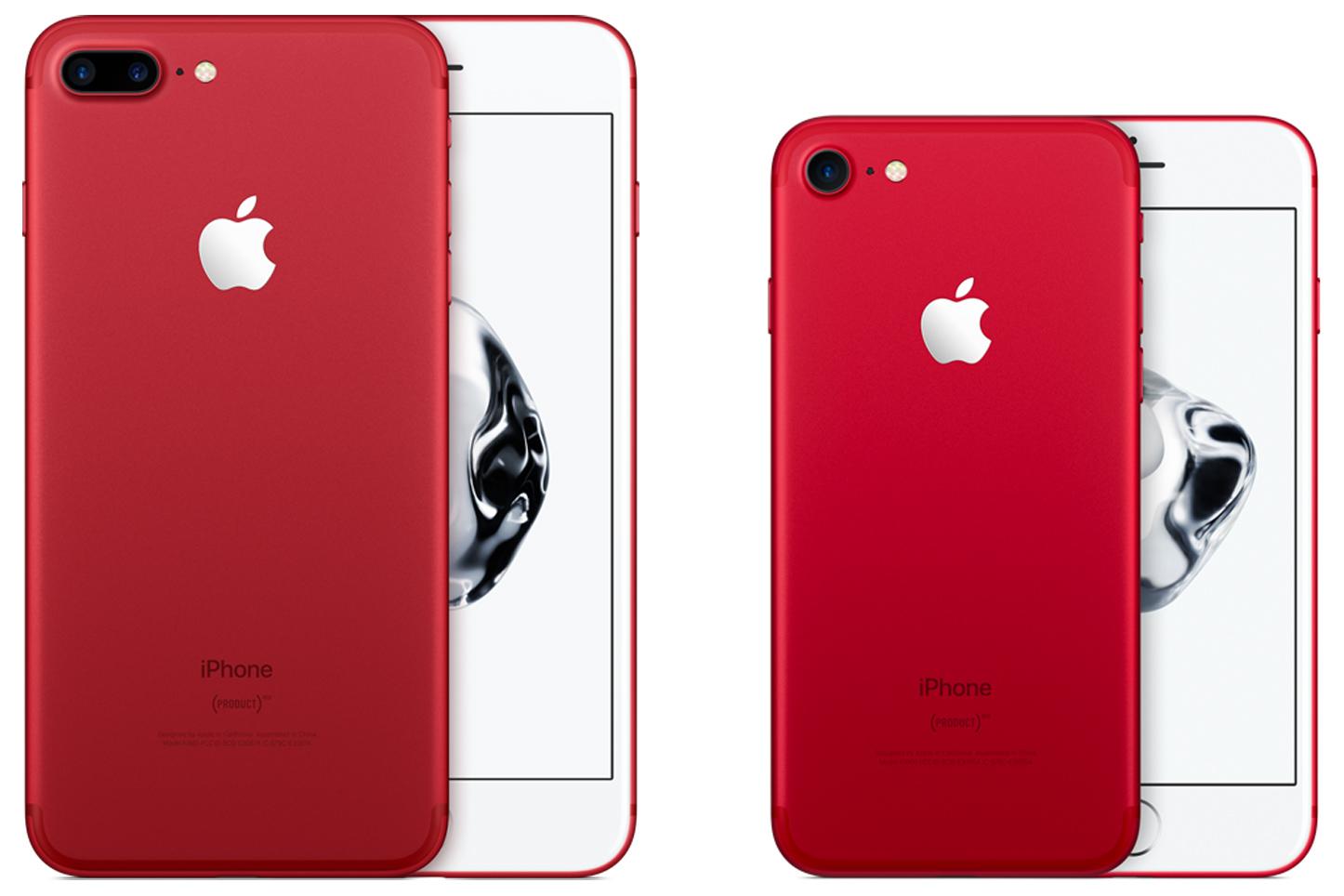 red iPhone 7 Plus