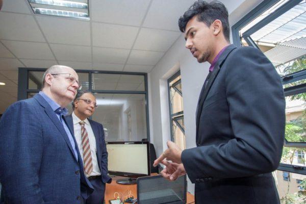 Microsoft 4Afrika Academy Dean Lutz Ziob and Dr. Kevit Desai