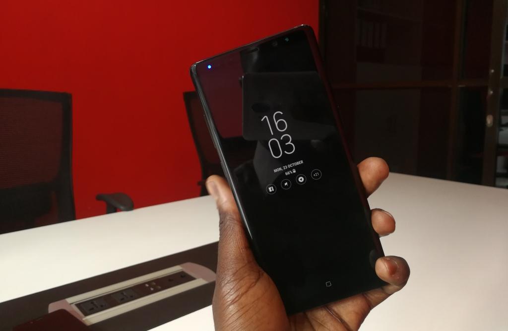 Galaxy Note 8 always on display