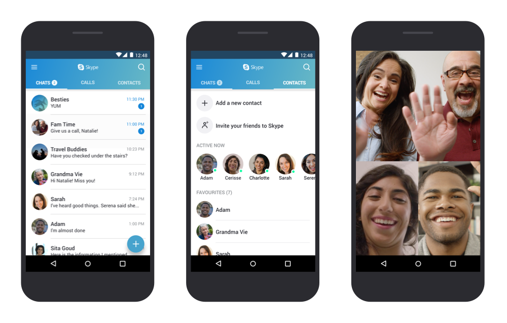 optimized Skype for Android