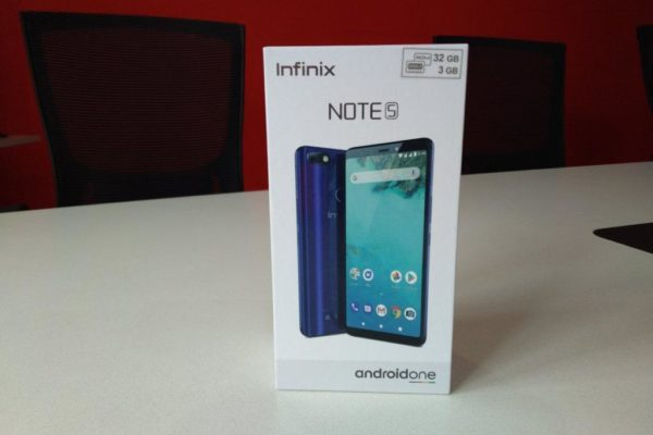 Infinix Note 5 box