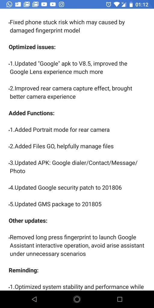 potrait mode Infinix Note 5