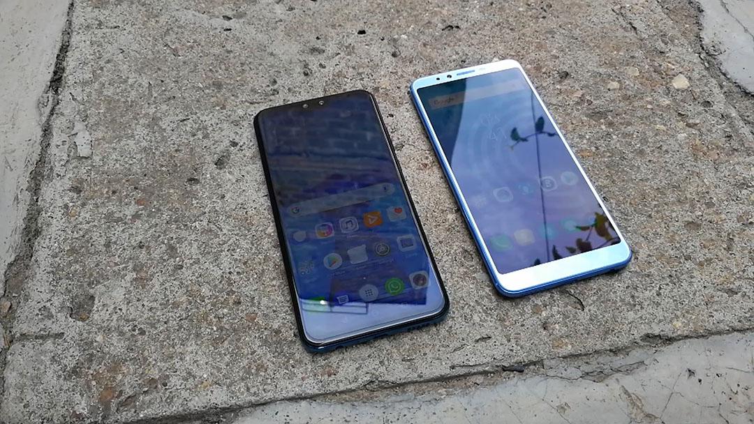 Huawei Y9 2019 Vs Camon X Pro display
