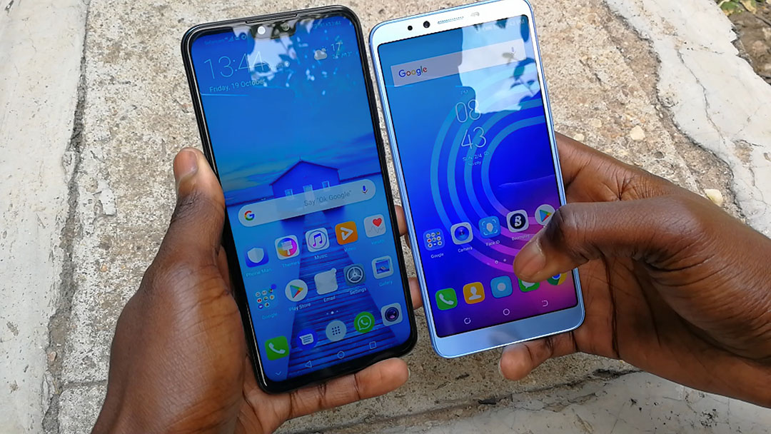 Huawei Y9 2019 Vs Camon X Pro screen