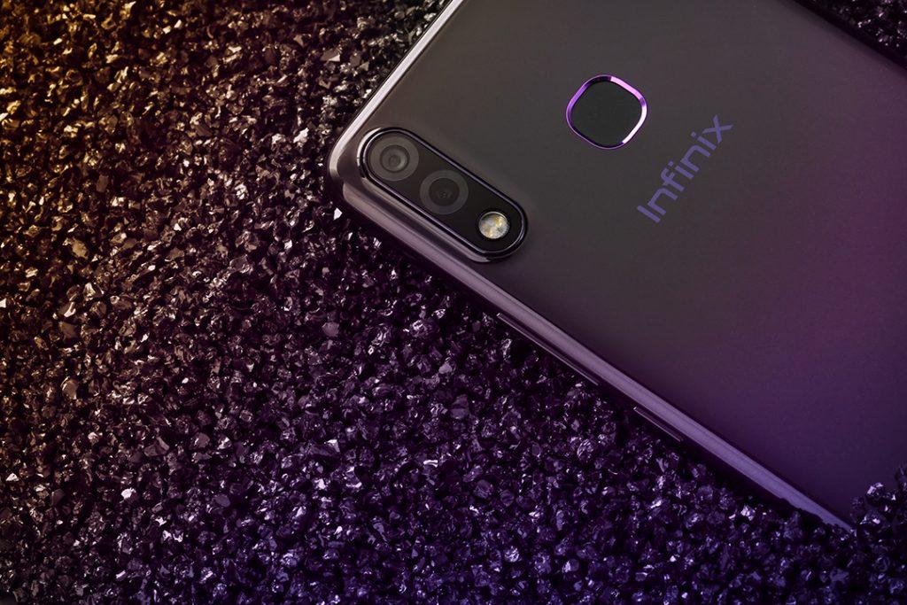 Infinix Hot 7 gradient purple