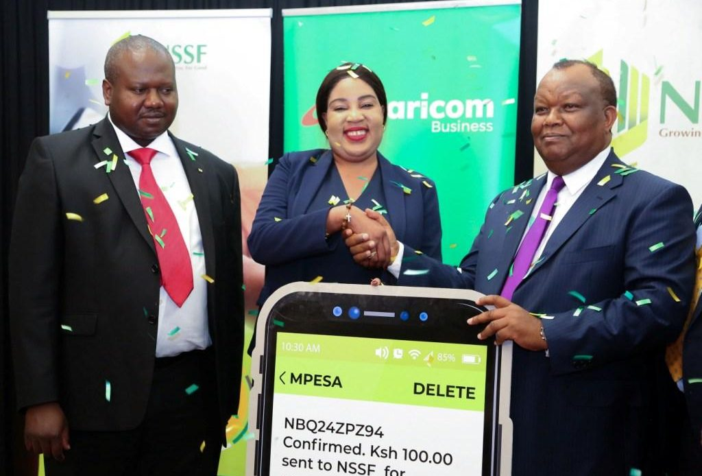 NSSF contribution through MPesa