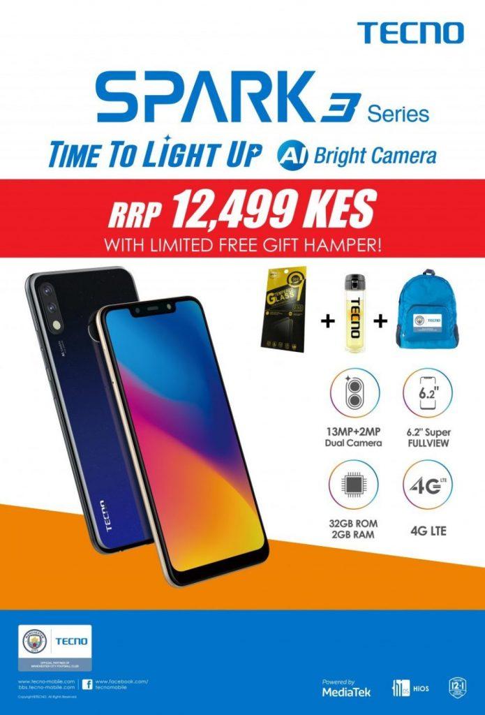 The Tecno Spark 3 Pro Goes on Sale in Kenya For Ksh 12,499