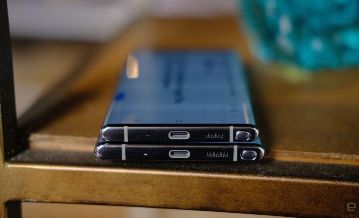 Samsung Galaxy Note 10 headphone jack