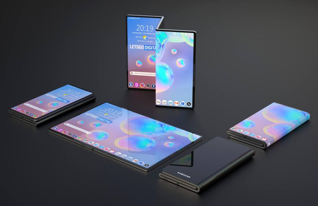 Samsung's new fold design renders