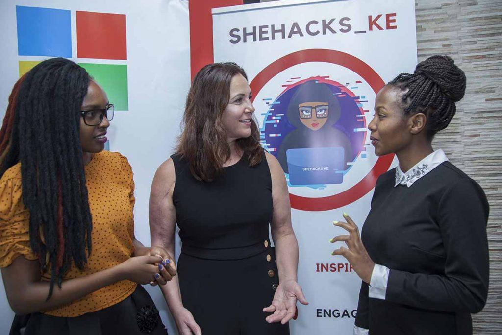 SheHacks Ke Co-Founders Laura Tich (left) and Evelyn Kilel (right)