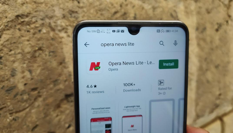 Opera News Lite app